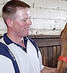 Equine dentist Shaun Hearmon